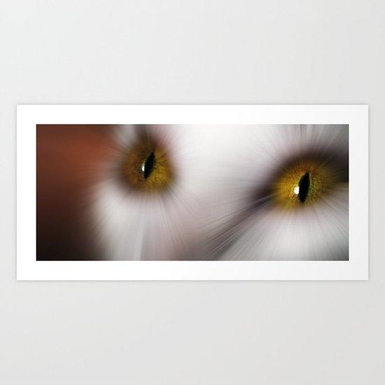 Wild Feline Eyes Art Print