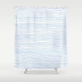 Blue mirage - a handmade pattern Shower Curtain