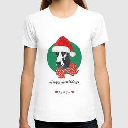 Happy Howlidays-I Wuf You Great Dane T-shirt