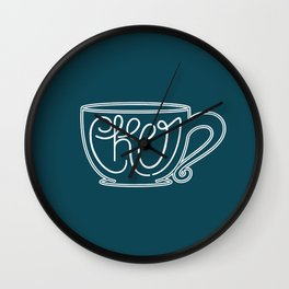 Cup of Cheer Wall Clock