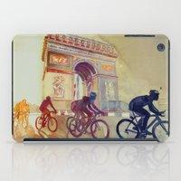 tour de france iPad Cases featuring Tour de France by takmaj