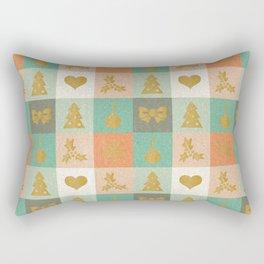 Christmas Checks Pattern Rectangular Pillow