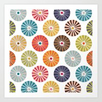 carousel Art Prints featuring carousel by Sharon Turner