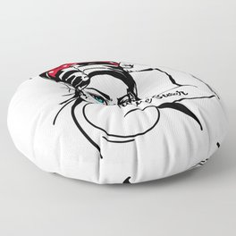 House Sitter Rosie The Riveter Pin Up Floor Pillow