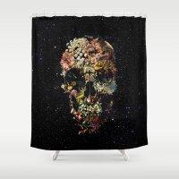 skull Shower Curtains featuring Smyrna Skull by Ali GULEC