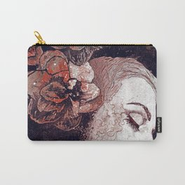 Obey Me: Blood (graffiti flower woman profile) Carry-All Pouch