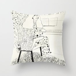 Sound of fingertips Throw Pillow