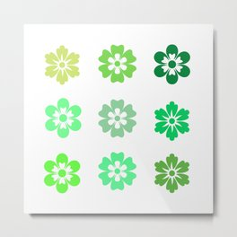 Bib Flower Pack Green Metal Print