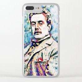 Giacomo Puccini (1858 – 1924) digitized photography Clear iPhone Case
