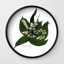 Lily of the Valley: Convalleria Majalis Wall Clock