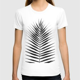 Palm Leaf Watercolor | Black and White T-shirt