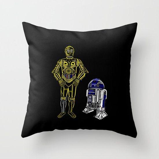 C3TYPO and R2TYPO Throw Pillow