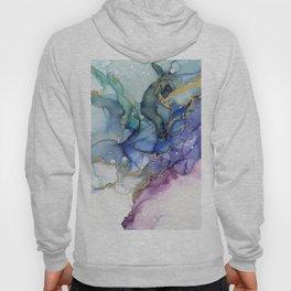 Moody Mermaid Bubbles Abstract Ink Hoody