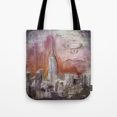 Boat over the City Tote Bag
