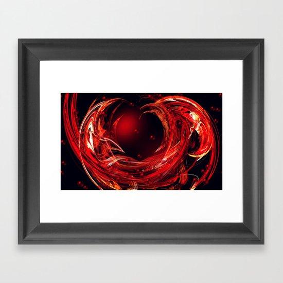 Flying Heart Framed Art Print