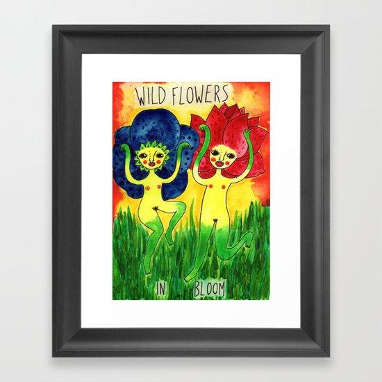 wild flowers in bloom Framed Art Print