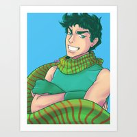 jjba Art Prints featuring JJBA :: Joseph by Magnta