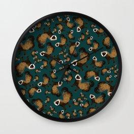 Brave Polecat ( Mustela putorius ) Wall Clock