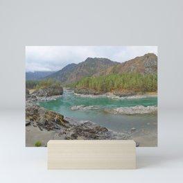 Katun river, Altai mountains, Siberia, Russia Mini Art Print