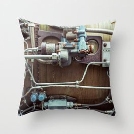 Rusting Engine Throw Pillow