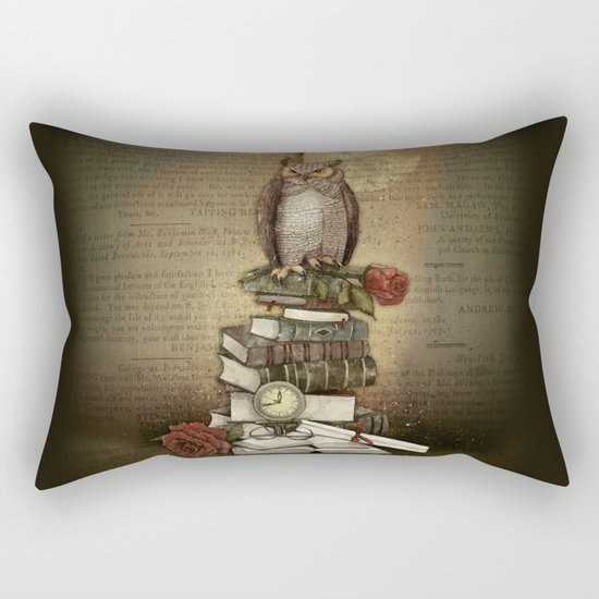 The Bibliophile - (the lover of books) Rectangular Pillow