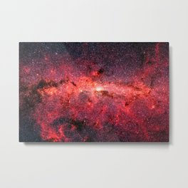 Don't Be Afraid To Reach For The Stars, Galaxy Background, Universe Large Print, Space Wall Art Metal Print