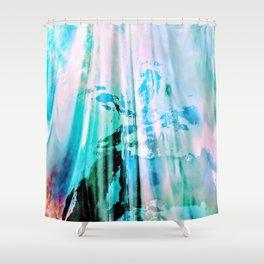 Irridescent Glass Shower Curtain