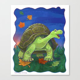Animal Parade Tortoise Canvas Print
