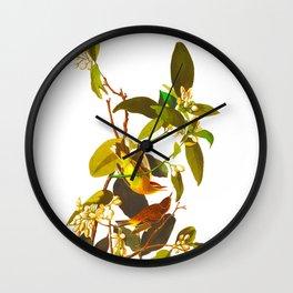 Palm Warbler Bird Wall Clock