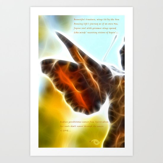Autumn Moth Art Print