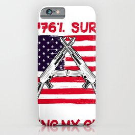 Weapon Gifts for Valentine's Day for Republican Men Funny  iPhone Case
