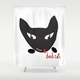 Bad Cat Bad Shower Curtain