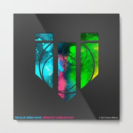 The Blue Green Bond Metal Print