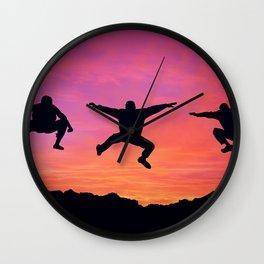 happy three friends Wall Clock