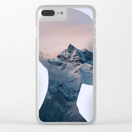 Mountain Woman - Double Exposure Poster Clear iPhone Case