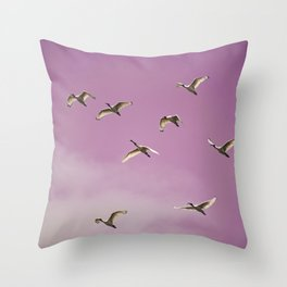Flying 2 Throw Pillow