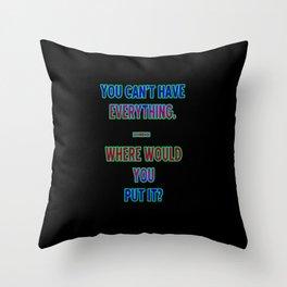 """Funny One-Liner """"Hoarding"""" Joke Throw Pillow"""