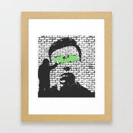 Null Framed Art Print