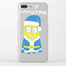 Santa Christmas Clear iPhone Case