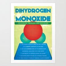 Dihydrogen Monoxide Art Print