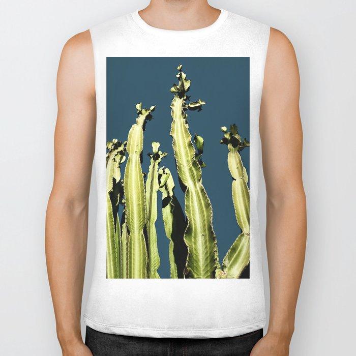Cactus - blue Biker Tank