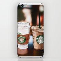 starbucks iPhone & iPod Skins featuring Starbucks Coffee  by Sara Eshak