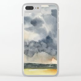Deluge Watercolor Painting by Jeani Eismont Clear iPhone Case
