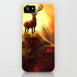 Stag Upon The Hill iPhone Case