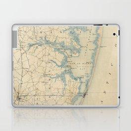 Vintage Map of Ocean City Maryland (1900) Laptop & iPad Skin