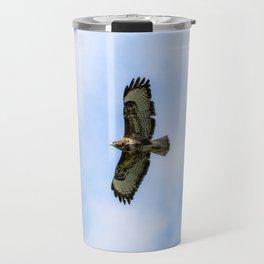 Buzzard Flying Travel Mug