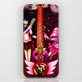 Fusion Sailor Moon Guitar #25 - Sailor Mars & Sailor Chibi Moon iPhone Skin