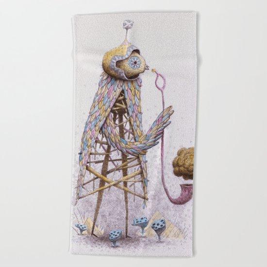 Pipe Bird Beach Towel