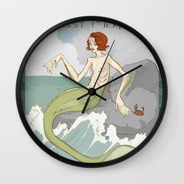 Miriam the Realist Mermaid Wall Clock