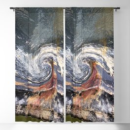 The Wave Etched in Stone Blackout Curtain